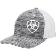 94e53f73759ff Ariat Men s Shield Logo Heathered Ball Cap Hat