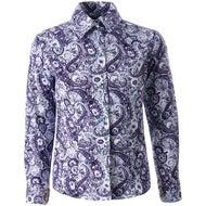 dd0862172 Cruel Denim Girl's Paisley Blue Snap Down Western Shirt