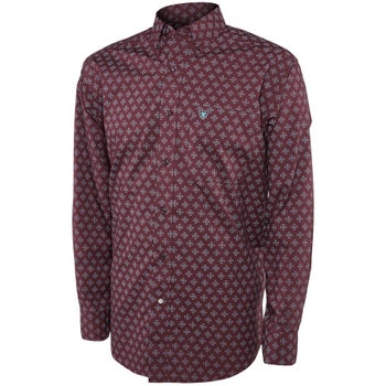 Ariat Men's Angwin Print Long Sleeve Western Shirt