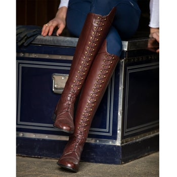 26d67bd6dac Ariat Capriole Laced Women's Tall Boots- Mahogany - Riding Warehouse