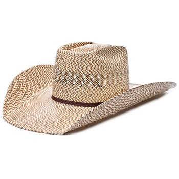 cc7260a3638 American Hat Co 20X 5525 Tri Color Straw Cowboy Hat - Riding Warehouse