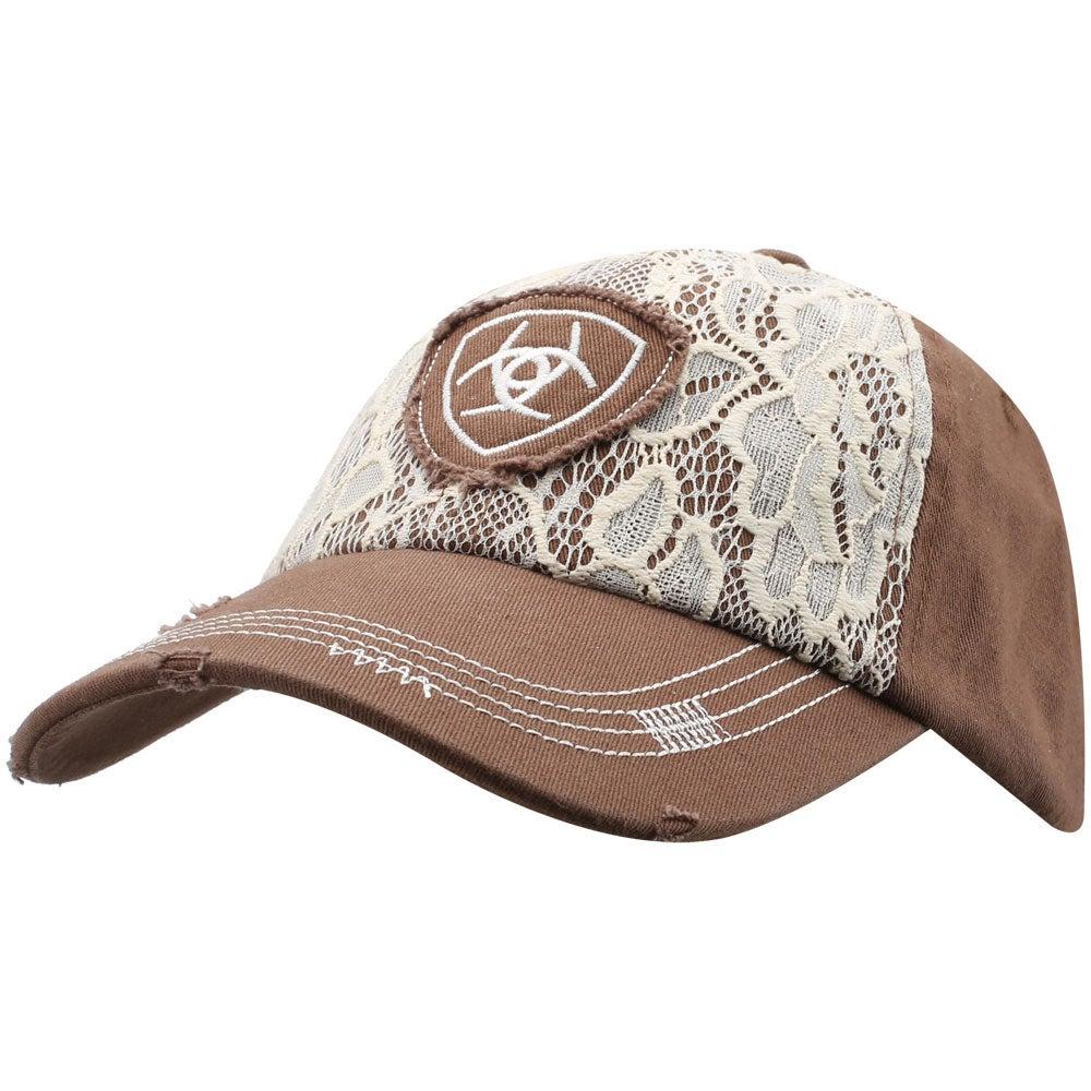 Ariat Women s Lace Logo Baseball Cap Hat - Riding Warehouse c0bf772c8ad