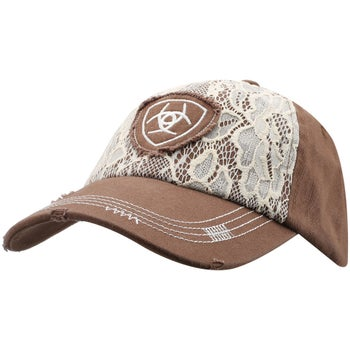 Ariat Women s Lace Logo Baseball Cap Hat - Riding Warehouse 152478d5ad6