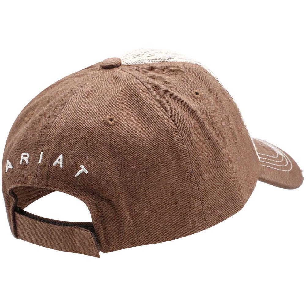 46573eb6d3b446 Ariat Women's Lace Logo Baseball Cap Hat. Ariat Women's Lace Logo Baseball  Cap Hat