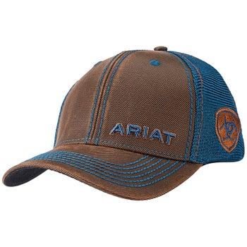 281e341aca2 Ariat Men s Logo Snap Back Ball Cap Hat - Riding Warehouse