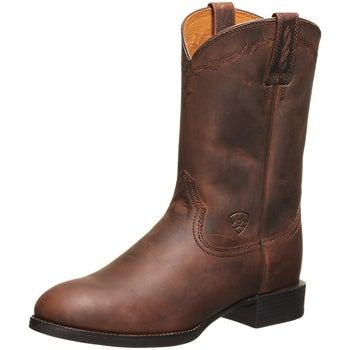 96d1eea38e1 Ariat Heritage Roper Brown Men's Cowboy Boots - Riding Warehouse