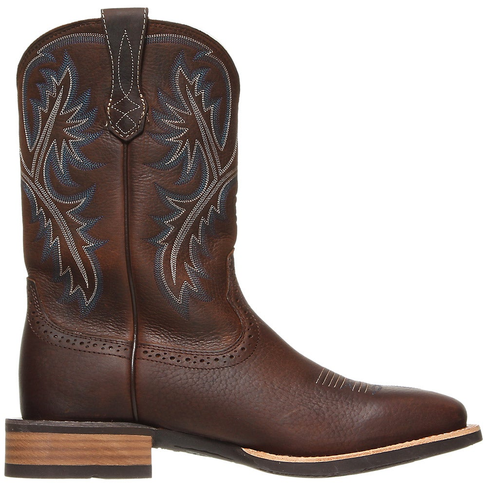 Ariat Quickdraw Brown Oiled Rowdy Men S Cowboy Boots