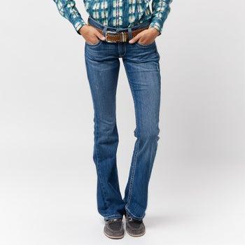 382e7e39234e Ariat Women's REAL Jasmine Boot Cut Jeans - Riding Warehouse