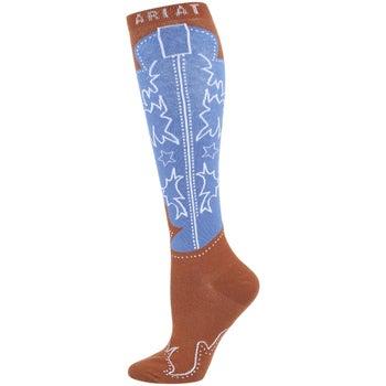 1b73a54b7a4 Ariat Western Cowboy Boot Knee High Tall Boot Socks - Riding Warehouse