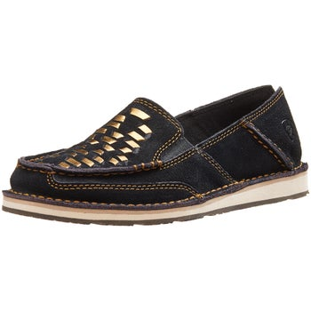 03846256a7b Ariat Weave Black Suede Cruiser Women s Shoes - Riding Warehouse
