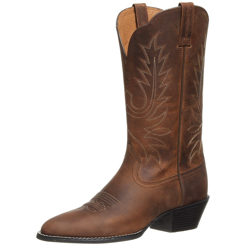 ariat heritage western rtoe brown s cowboy boots
