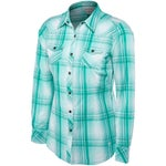 Ariat Womens Maddy Fitted Snap Plaid Long Sleeve Shirt