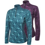 Arista Womens Printed Wicking Quarter Zip Top/Shirt
