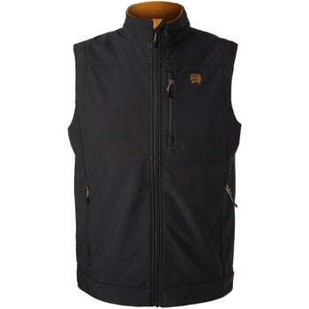 86931651b0e2 Cinch Men s Full Zip Bonded Softshell Vest w  Logo - Riding Warehouse