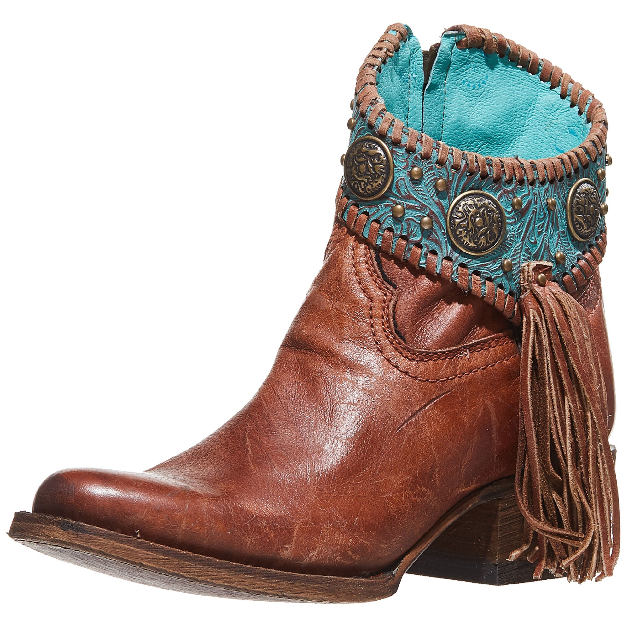 3e81b2a19db Corral Ladies' Emma Concho Embellished Ankle Boots - Riding Warehouse