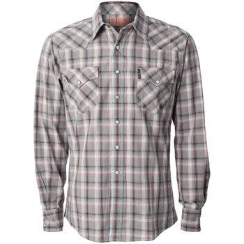 e341c57f97d Cinch Men s Modern Fit Grey Plaid Snap Western Shirt - Riding Warehouse