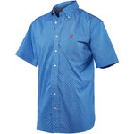 Cinch Mens Patriotic Print Short Sleeve Western Shirt