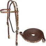 Cashel Mossy Oak Camo Leather Bridle Headstall w/Reins