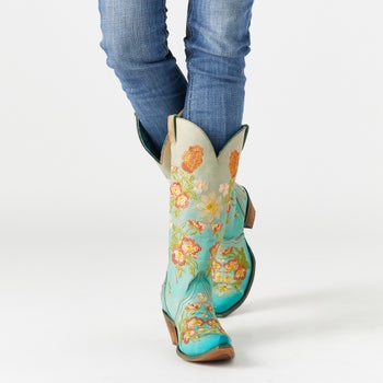 d935a72263a Corral Ladies  Tina Floral Embroidered Cowboy Boots - Riding Warehouse