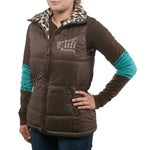 Cowgirl Tuff Womens Brown & Leopard Reversible Vest