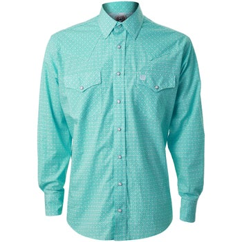 235844823f Cinch Men s White Snap Down Long Sleeved Western Shirt - Riding ...