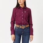 Cinch Womens Long Sleeve Western Shirt Solid Colors