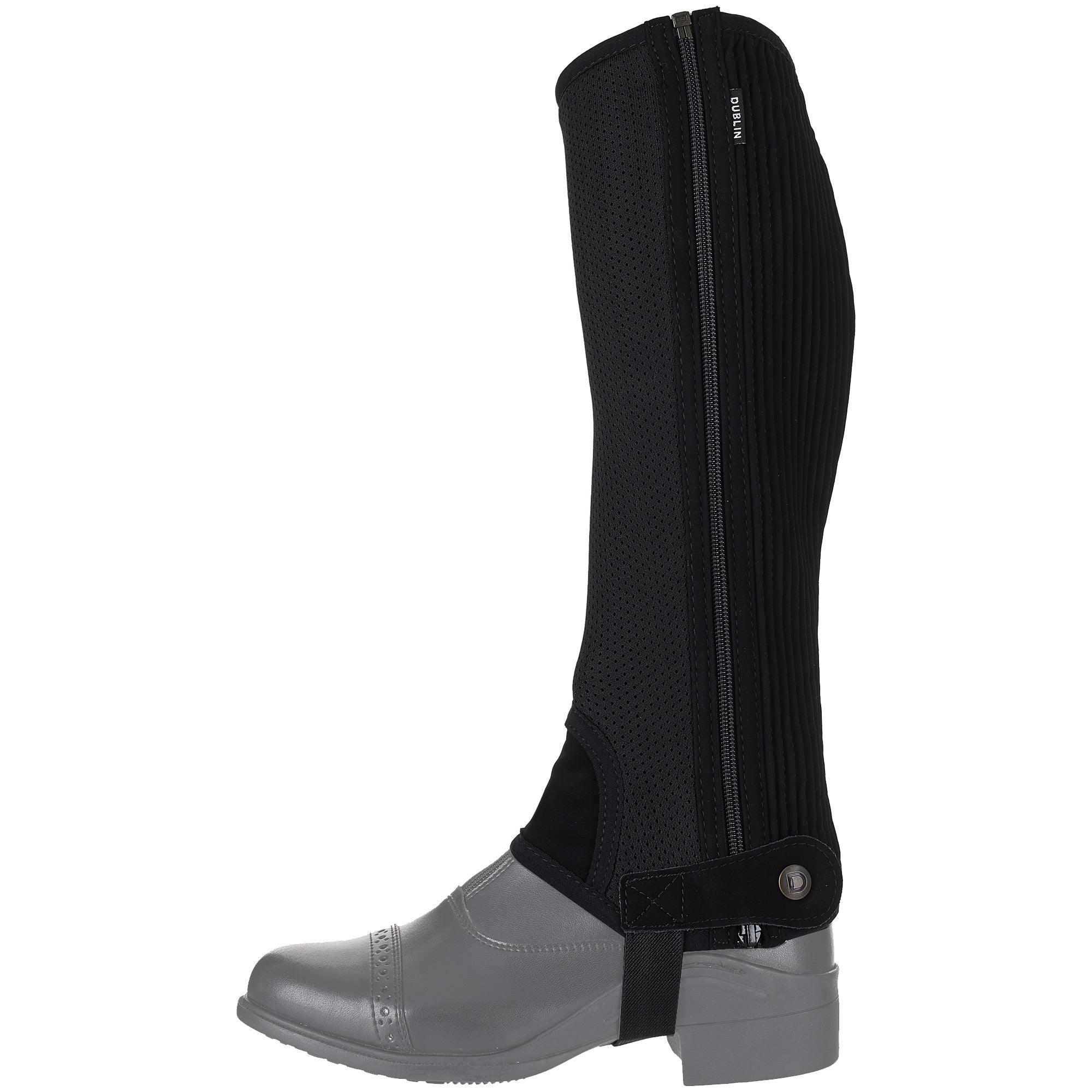 2 colors Dublin Easy Care Mesh Half Chaps 5 Sizes available NEW