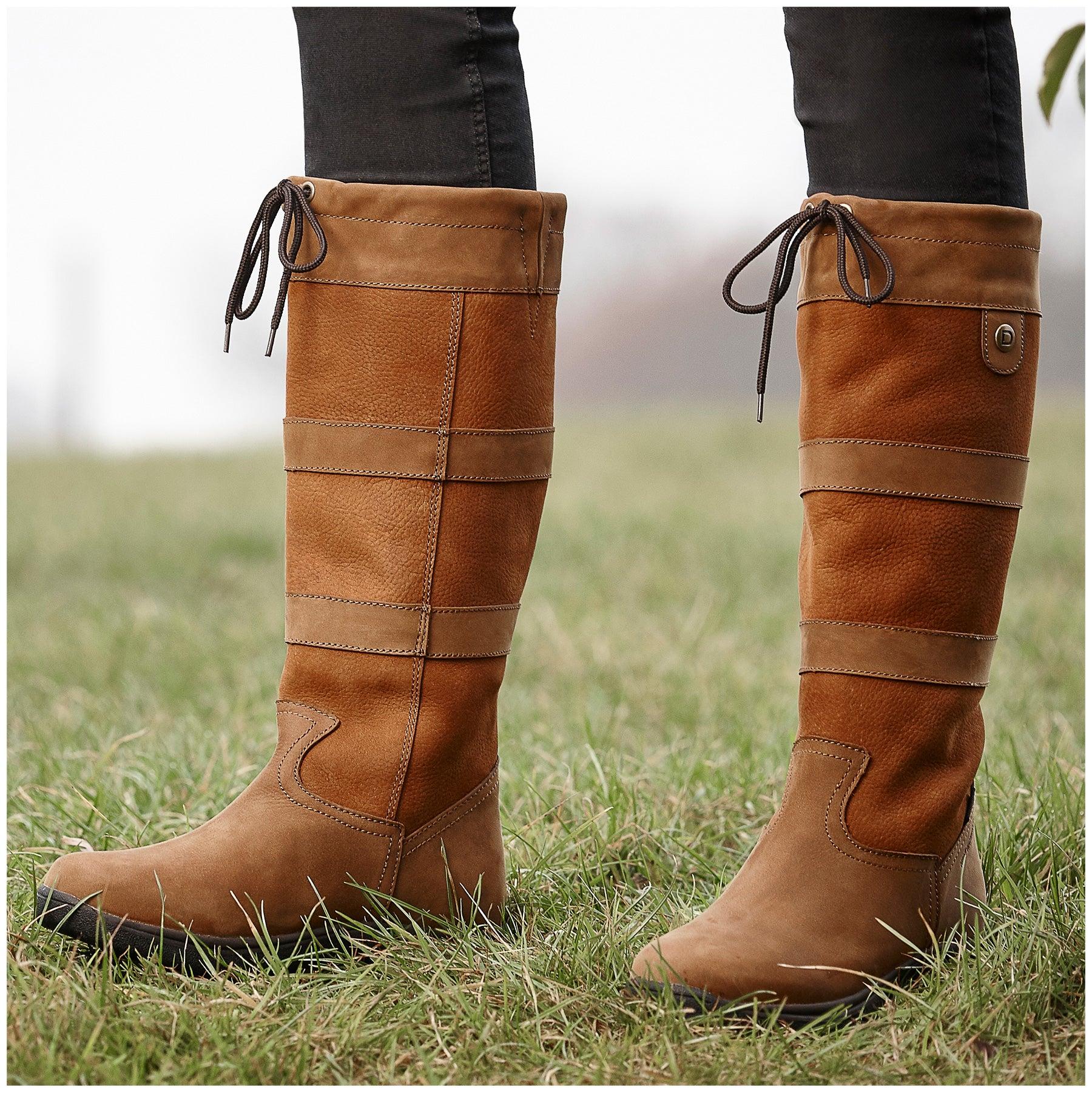 Dublin River Iii Women S Tall Boots Tan Riding Warehouse