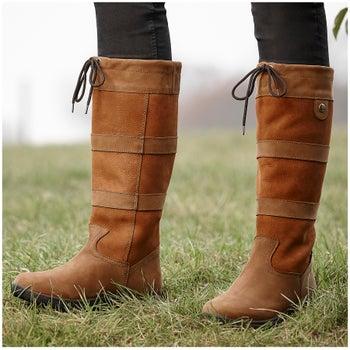 93a17eed2c89 Dublin River III Women s Tall Boots-Tan - Riding Warehouse