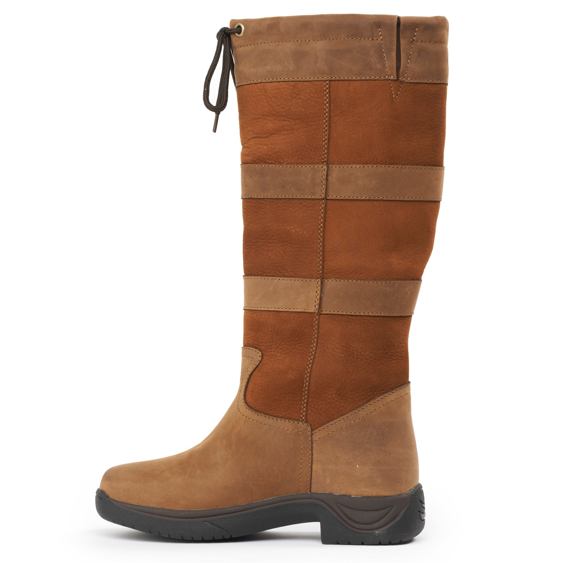 d04610becd0 Dublin River III Women's Tall Boots-Tan - Riding Warehouse