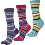 Darn Tough Womens Sassy Stripe Wool Crew Socks