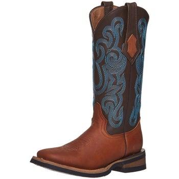 baf39cca776 Ferrini Maverick Farm & Ranch Ladies Brown Cowboy Boots