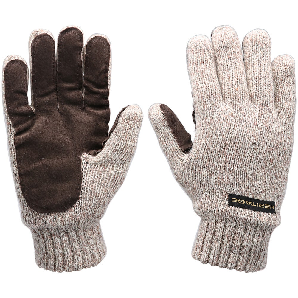 Quintessential Wool Mix Ladies Gloves Grey with Bow Detail