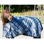 Horze Blue Plaid Waterproof Turnout Blanket 200G -DEAL!