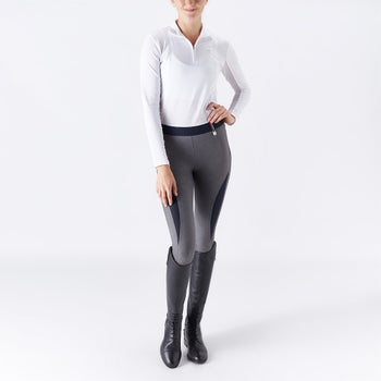 eafe5615b Horze Women s Serena Silicone Knee Patch Riding Tights - Riding Warehouse