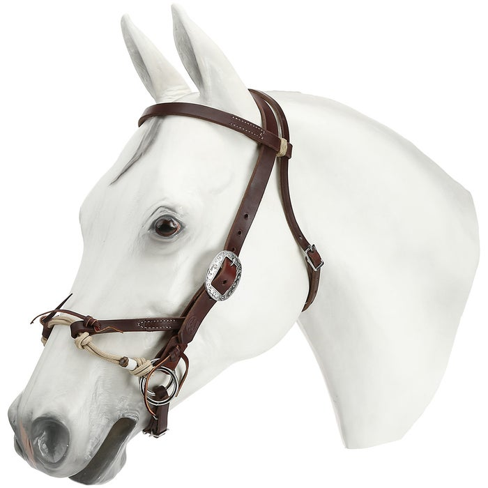 Weaver Leather Justin Dunn Bitless Bridle- Canyon Rose