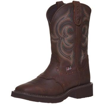 b48dcf33979 Justin Gypsy Inji Brown Women's Western Cowboy Boots - Riding Warehouse