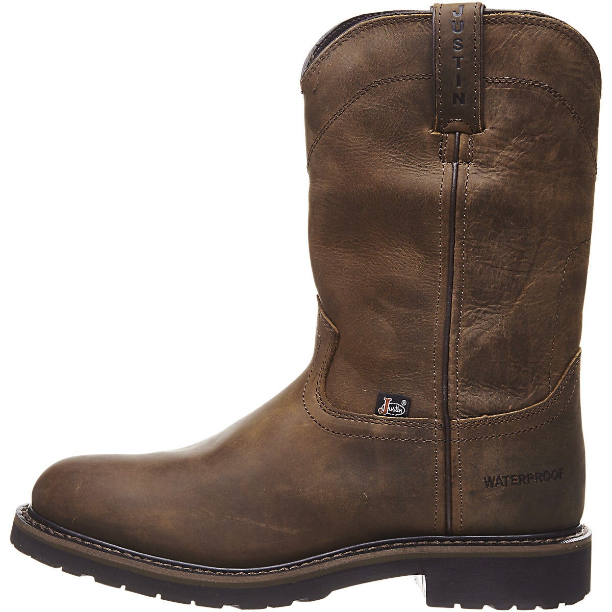 90202b2b7a0 Justin Men's Drywall Waterproof Pull On Work Boots - Riding Warehouse