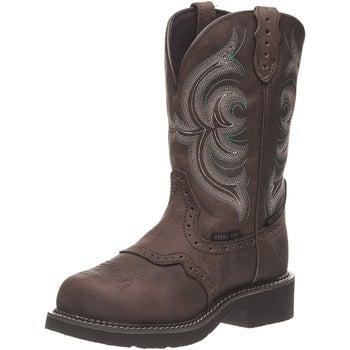 3ac15fe763d Justin Women's Wanette Waterproof Steel Toe Work Boots - Riding ...