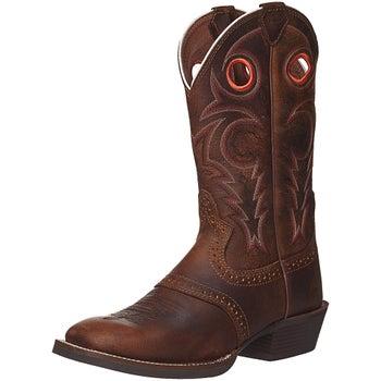 17a865191aa Justin Men's Whiskey Buffalo Silver Cowboy Boots - Riding Warehouse