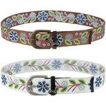 Equine Couture Lilly Cotton Woven Floral Design Belt