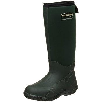 7a54aaeb06b4 Mudruckers Ladies Waterproof Muck Rain Tall Boots Green - Riding Warehouse