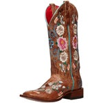 Macie Bean Womens Rose Garden Cowboy Boots