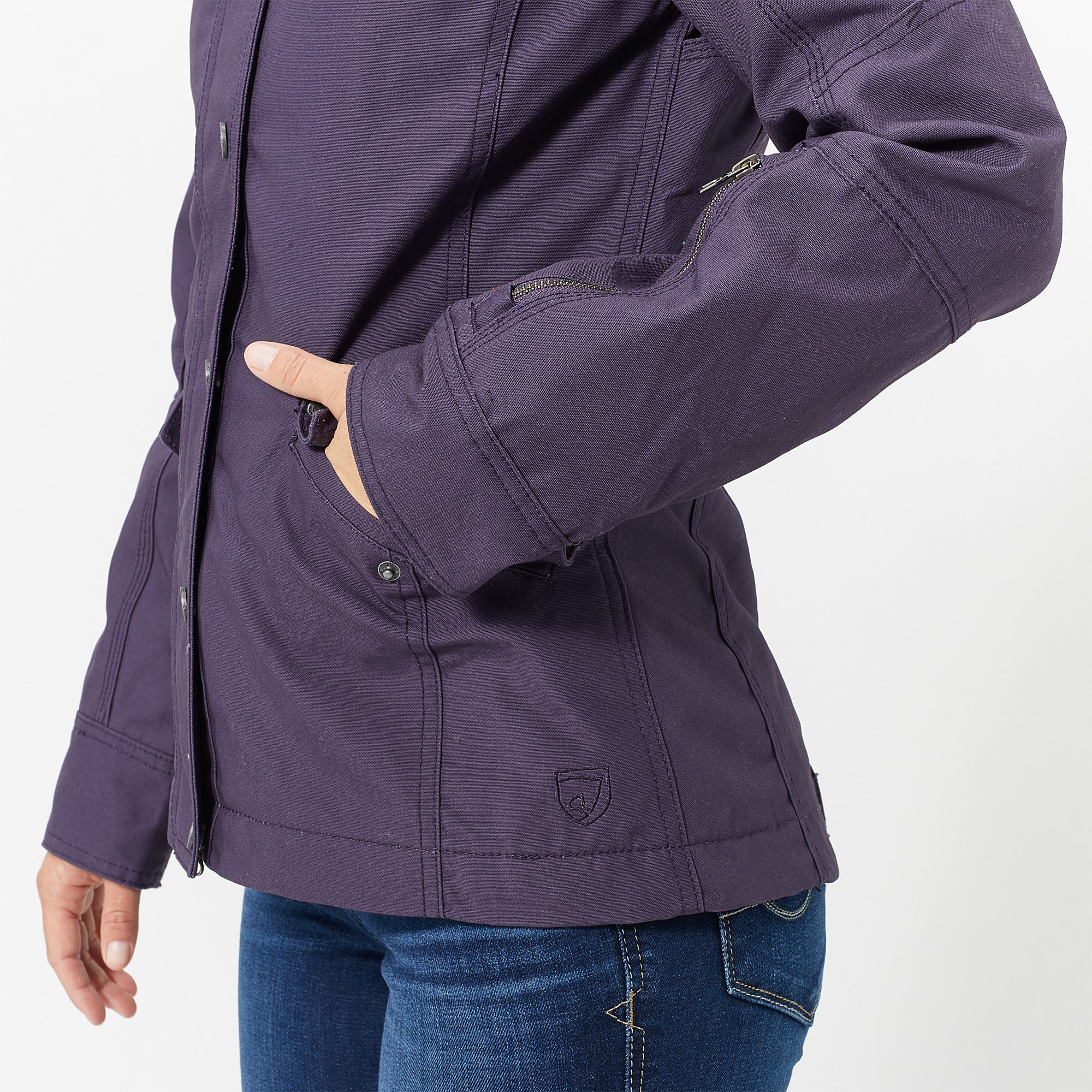 Noble Equestrian Women S Stable Ready Canvas Jacket