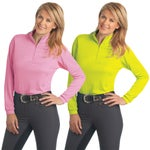 Ovation Ladies Cool-Rider Zip Mock Shirt/Top-Deal!