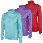 Ovation Womens Cool Rider Zip Mock Shirt/Top