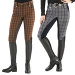Ovation Ladies Sparkle Plaid Full Seat Breeches-DEAL!