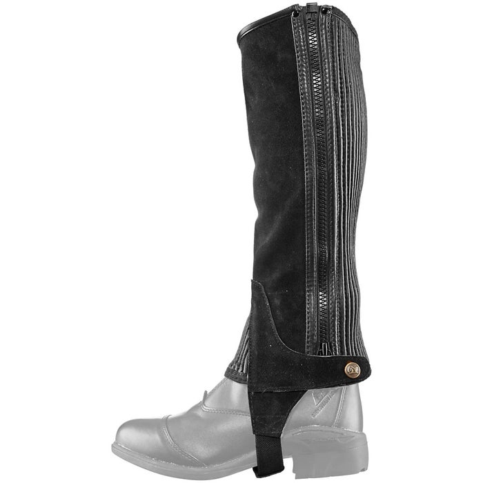 Ovation Suede Ribbed Half Chaps Riding Warehouse