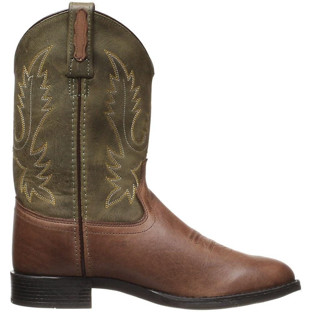 Old west jama chocolate barnwood kids cowboy boots