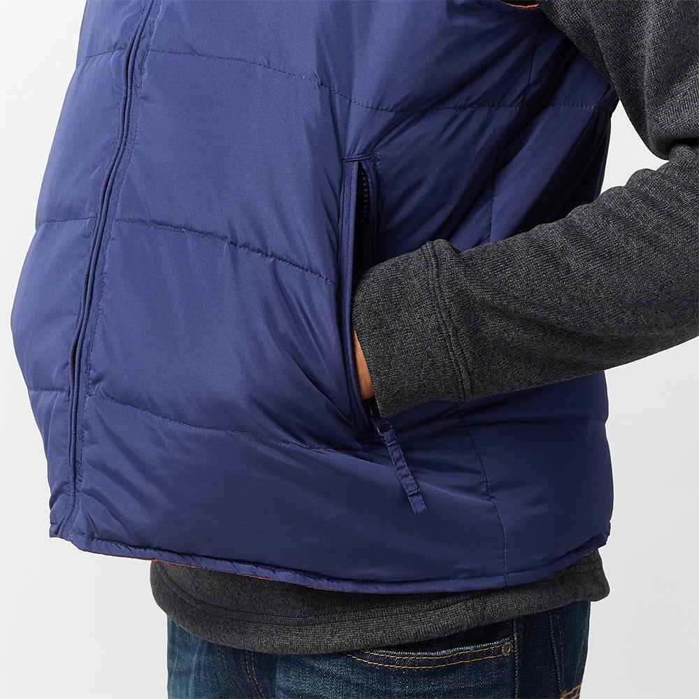 Resistol Men S Reversible Quilted Down Branded Vest